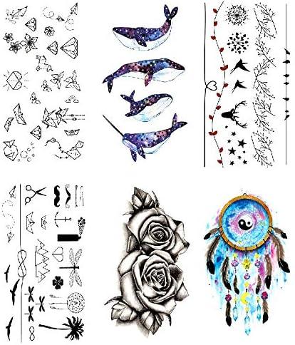 Oottati 6 Hojas Pequeño Lindo Tatuaje Temporal Tattoo Diamond ...
