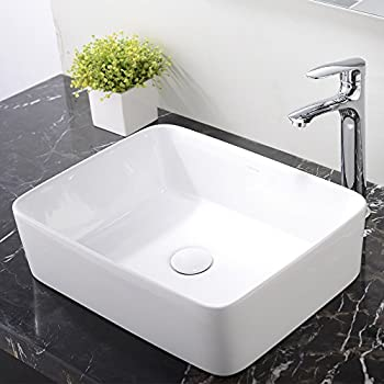 ufaucet modern porcelain above counter white ceramic bathroom vessel sink