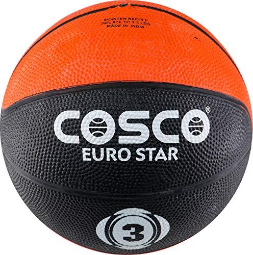 Cosco Leather Euro Star Basketball  Multicolour, Size 3