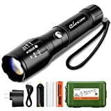 Rechargeable LED Tactical Flashlight, eSamcore Flashlights with Safety Hammer and 18650 Battery & Charger [Zoomable] [1000 Lumens] [5 Modes] For Camping Outdoor Emergency