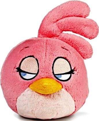 Angry Birds Plush 8 Inch Girl Pink Bird With Sound