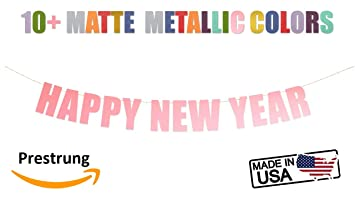 Amazon.com: Happy New Year Banner - Cartel de fiesta de año ...