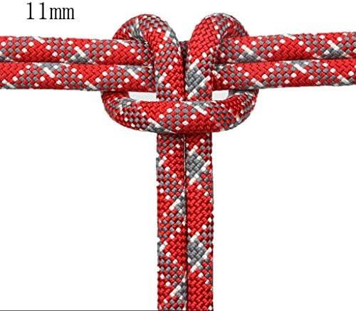 ZHWNGXO Statische Rope11mm, verwendet for Camping/Outdoor/Garten/Klettern Zugseil Lasting Enge Weaving Ziehen 26kN 10m / 20m / 30m / 40m / 50m / 70m / 80m / 90m / 100m