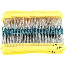 1280pcs 64 Values 1 ohm To 10M ohm 1/4W Metal Film Resistors Assortment Kit Assorted Set Low noise