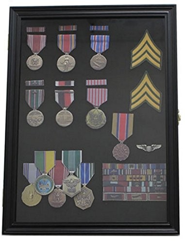 Badge, Pin, Medal & Brooch Display Case, Black: Amazon co uk
