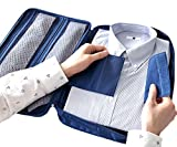 iSuperb Multi-function Shirt Organizer Travel Tie Storage Pouch Luggage Packing waterproof Bag for Men (Dark Blue)