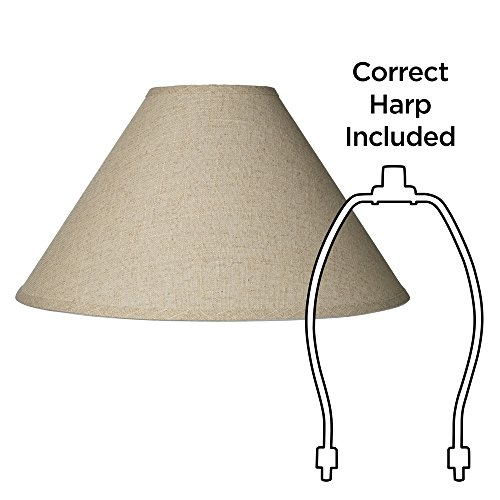 Fine Burlap Empire Shade 6x19x12 (Spider) by Brentwood (Image #5)