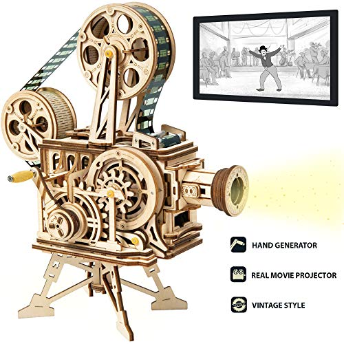 ROKR 3D Wooden Puzzle Mechanical Model Kits for Adults DIY Craft Kits Vitascope