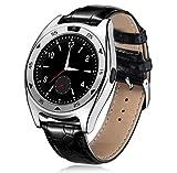 LJXAN Fitness Tracker Smart Watch Sport Pedometer Sleep Heart Rate Blood Pressure Oxygen Detector Bluetooth Photograph Card Watch Phone,Blacksilver