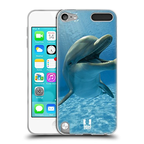 Head Case Designs Close-Up Dolphin Wildlife Soft Gel Back Case Cover for Apple iPod Touch 5G 5th Gen 6G 6th Gen - Dolphins Of The Ca