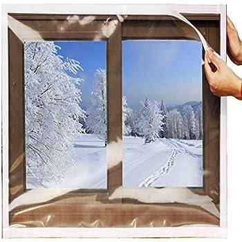Ses Co Reusable Transparent Indoor Window Insulation Kit