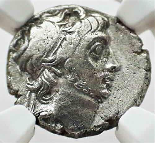 IR 52-42 BC Ancient Kingdom of Cappadocia King Ariobarzanes III Antique Silver Coin Drachm Choice Very Fine NGC