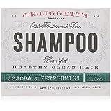 J.R. Liggett Bar Shampoo, Jojoba and Peppermint