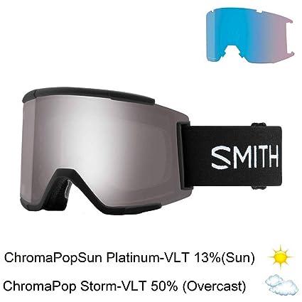 71951daba6 Image Unavailable. Image not available for. Color  Smith Optics Squad Xl  Adult Snow Goggles - Black Chromapop Sun Platinum Mirror One