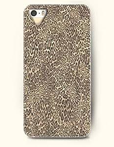 Phone Case For iPhone 5 5S Black And Beige Leopard Pattern - Hard Back Plastic Case / Animal Print / SevenArc Authentic...