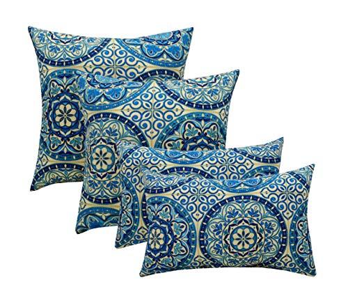(Resort Spa Home Set of 4 Indoor/Outdoor Pillows - 17