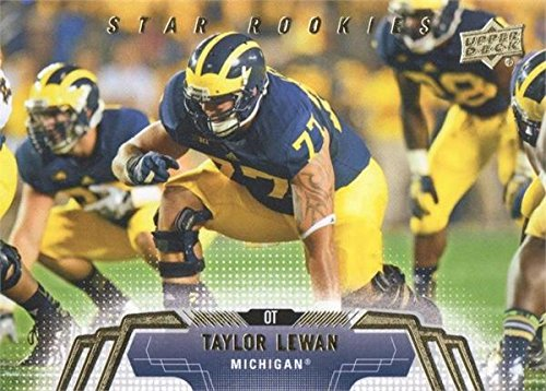 - Taylor Lewan football card (Univerity of Michigan Wolverines) 2014 Upper Deck Star Rookie #57