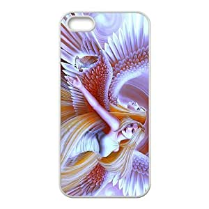 Angel Wings iPhone 5s Cases TPU Rubber Hard Soft Compound Protective Cover Case for iPhone 5 5s