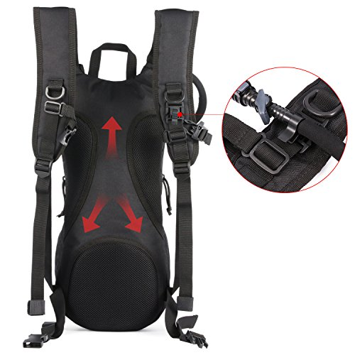 Tactical Hydration Pack Water Backpack with 3L Bladder, Barbarians Lightweight Military Molle Backpack