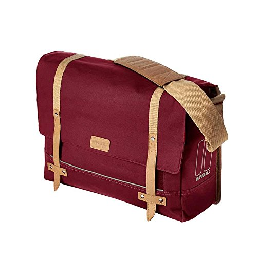 Basil Portland Messenger Bag and Bicycle Pannier - Dark Red - 20 Litre