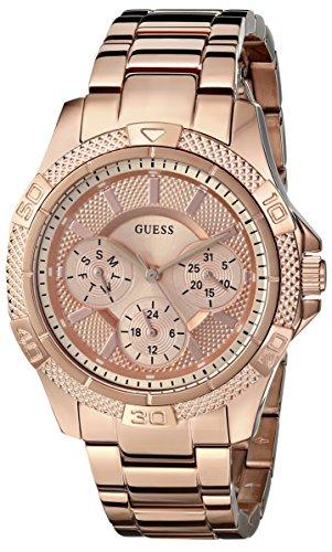 GUESS Women's U0235L3 Dynamic Feminine Rose Gold-Tone Mid-Size Sport Watch (Guess Watch Women Rose Gold)