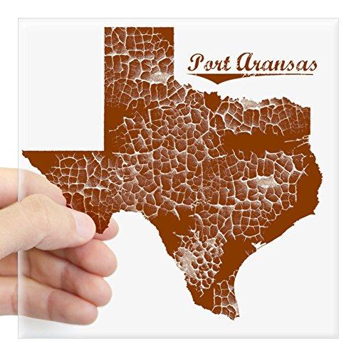 CafePress Port Aransas, Texas (Search Square Sticker 3