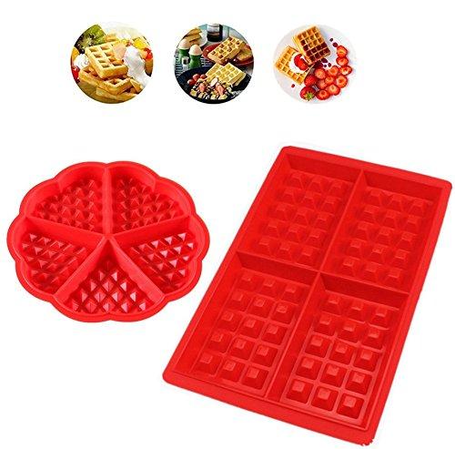 iNeith Waffle Mold 2 en 1 kit Silicona Horno Cacerola para Hornear ...