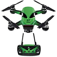 Skin for DJI Spark Mini Drone Combo - Alien Invasion| MightySkins Protective, Durable, and Unique Vinyl Decal wrap cover | Easy To Apply, Remove, and Change Styles | Made in the USA