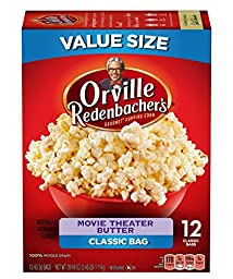 Orville Redenbacher\'s Movie Theater Butter Popcorn, Classic Bag, Pack of Six (6) 12-Count Boxes