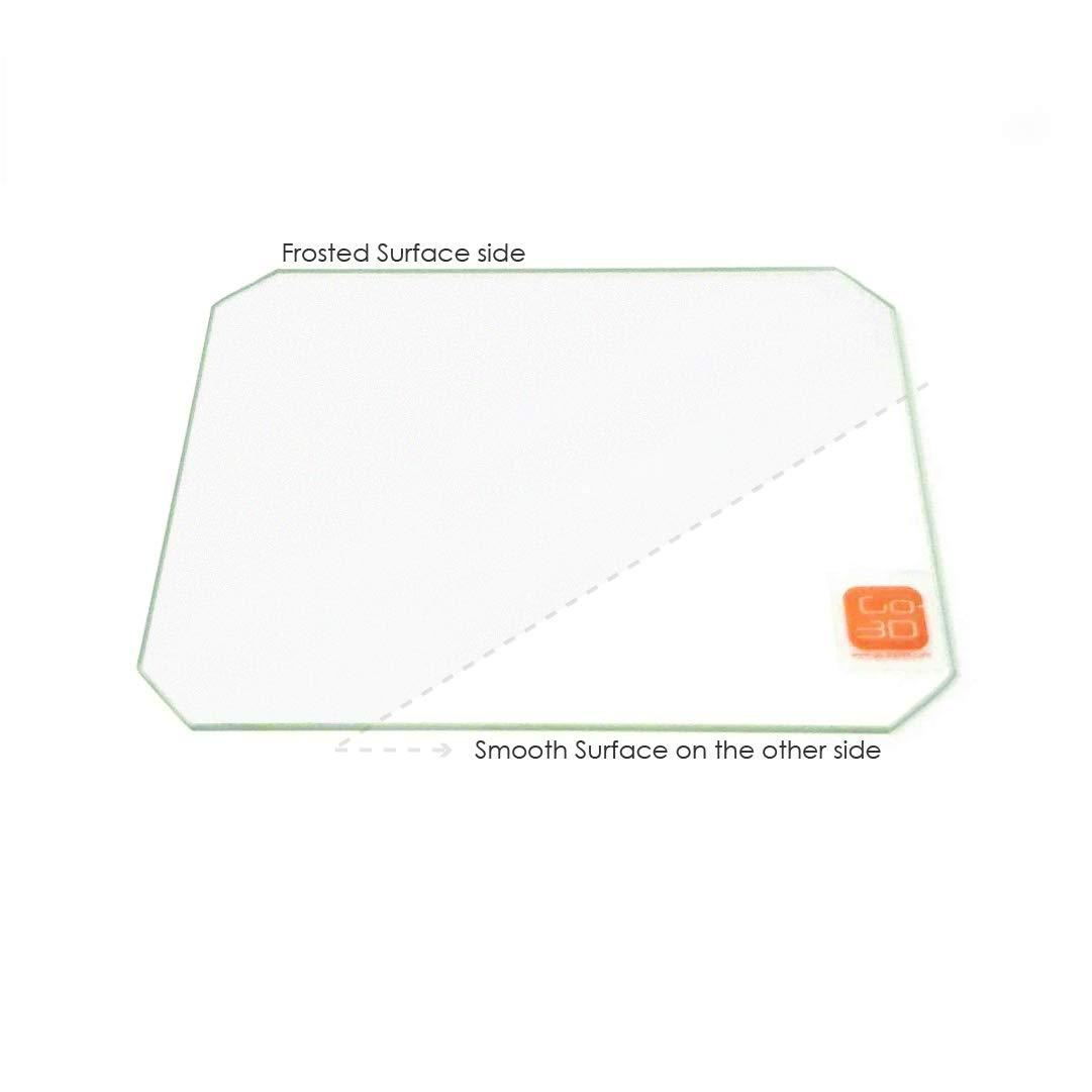 Placa de vidrio de borosilicato esmerilado de 130 mm x 160 mm con ...