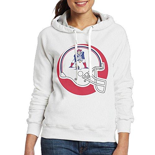 UFBDJF20 New England Pat Patriot Hooded Sweatshirt For Women XXL White