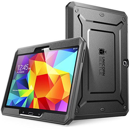 Samsung Galaxy Tab 4 10.1 Case, SUPCASE[Unicorn Beetle PRO Series]case for Galaxy Tab 4 10.1 Tablet (SM-T530/T531/T535) Full-body Rugged Hybrid Protective Cover with Built-in Screen Protector (BLK)