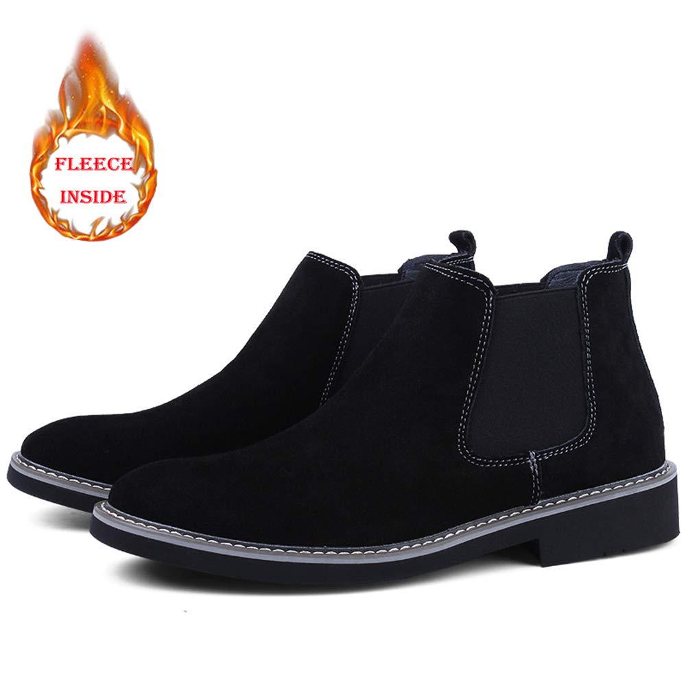Dundun-Stiefel 2018 Neue Kommende Stiefel, Komfortable Winter-Faux-Fleece-Innenseite für hohe Stiefel (konventionell optional) Mode-Stiefeletten (Farbe   Warm schwarz, Größe   38 EU)