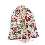 ❤️ Sunbona Schoolbag Print Canvas Drawst Hanged Sack Sport Beach Travel Outdoor Backpack Pouch Bag RDShoulder School Bag