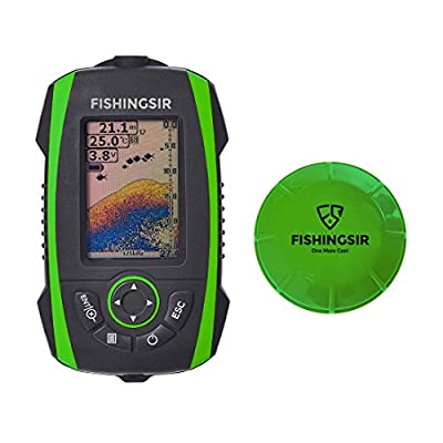 Wireless Portable Fish Finder Fishfinder with Sonar Sensor Transducer and 100M LCD colors Display by OneStone