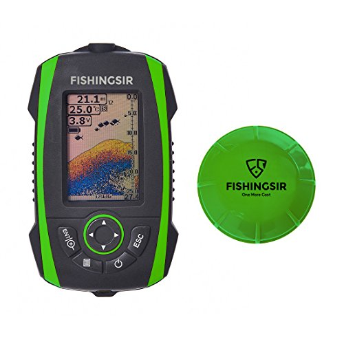 FishingSir Portable Depth Fish Finder with Wireless Sonar Sensor 100M Fishfinder - Rechargeable 2.8'' Colors LCD Display Fish Finders And Other Electronics FishingSir