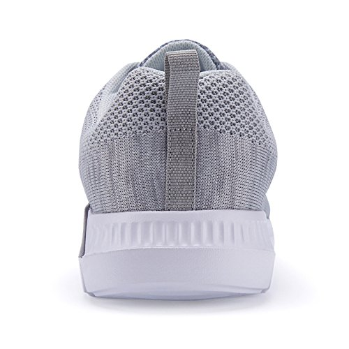 Shoes Mesh Running Athletic Breathable Casual Air Lightweight Sneakers Shoes Grey Women KOUDYEN Fashion Cushion xtEUPwqn0