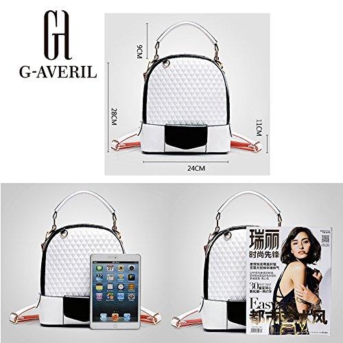 G-AVERIL GA1106-N - Bolso mochila  para mujer dorado dorado blanco