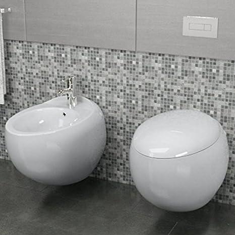 Import For Me Sanitari Sospesi Wind Design in Ceramica WC con Copri  Vaso+Bidet