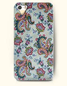 SevenArc Apple iPhone 5 5S Case Paisley Pattern ( Pink and Teal Palm Tree Leaves )