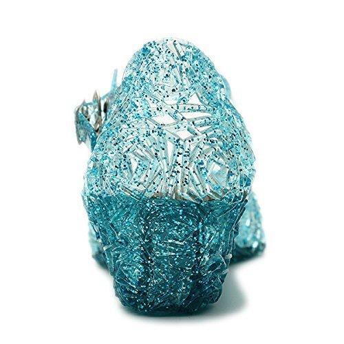 Halloween Carnaval d/éguisement Cosplay Couleur Bleue avec Paillettes Frozen Princesse Semelle 18 cm Elsa Anna Cinderella Chaussures avec Talon compens/é et Sangle pour Les Filles