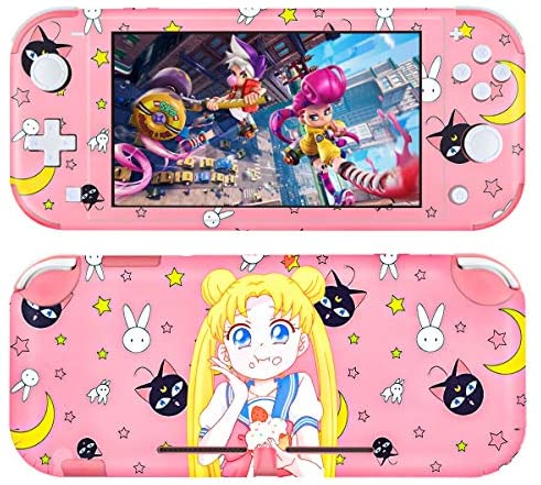 DLseego Switch Lite Skin Cute Girl Pattern Full Wrap Skin Protective Film Sticker Compatible with Nintendo Switch Lite-Pink