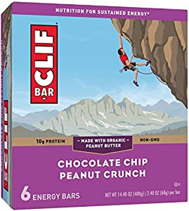 CLIF BAR - Energy Bar - Chocolate Chip Peanut Crunch - (2.4 Ounce Protein Bar, 6 Count)