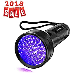 UV Flashlight Black light UV Lights, Vansky 51 LED Ultraviolet Blacklight Pet Urine Detector For Dog/Cat Urine,Dry Stains,Bed Bug, Matching with Pet Odor Eliminator