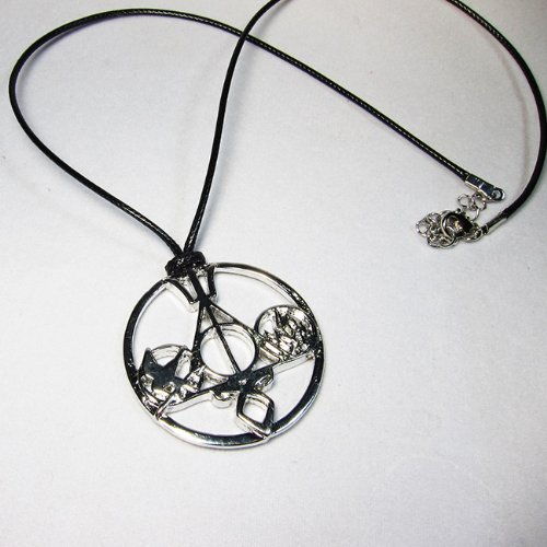 OPCC The Novel Classic Movie Necklace Mix the Mortal Instruments /Hunger Games Divergent/ Percy Jackson/ Harry Potter silver white color by OPCCY