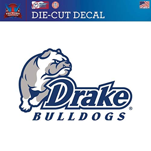Victory Tailgate Drake University Bulldogs Die-Cut Vinyl Decal (Approx 6x6)