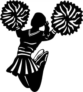 Amazon.com: Large Silhouette Vinyl Cheer Wall Decal ...