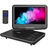ieGeek 11.5 inch Portable DVD Player with AV-IN/OUT, SD Card & USB Port, 5h Rechargeable Battery, 9.5'' Swivel Screen, Support Resume Function, Region Free, Black