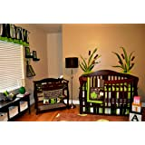 DK Leigh Nursery Crib Bedding Set, Frog, 7 Count, Green/Brown/Lime Green/White