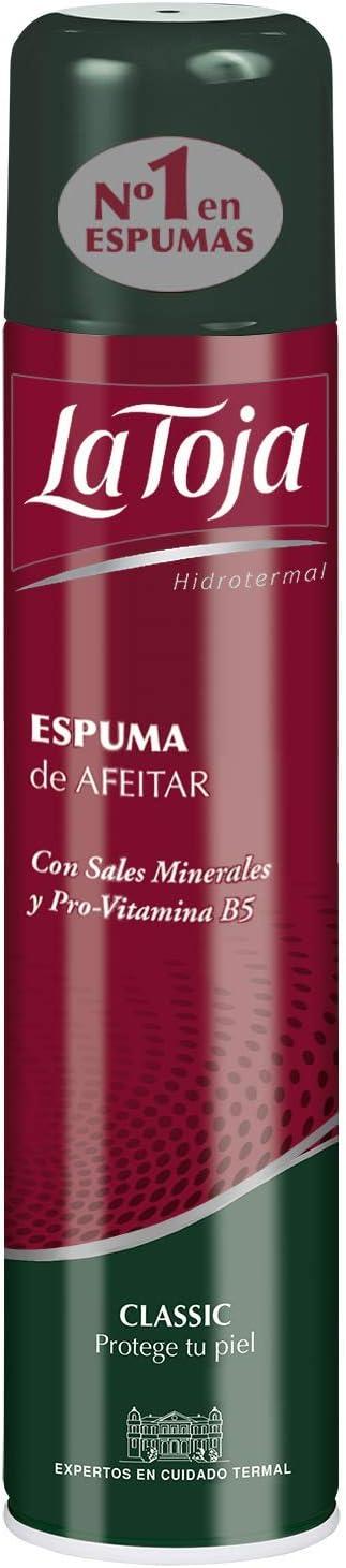 La Toja - Espuma afeitado Classic - con Pro-Vitamina B5 y Sales Minerales - 4 unidades de 300ml